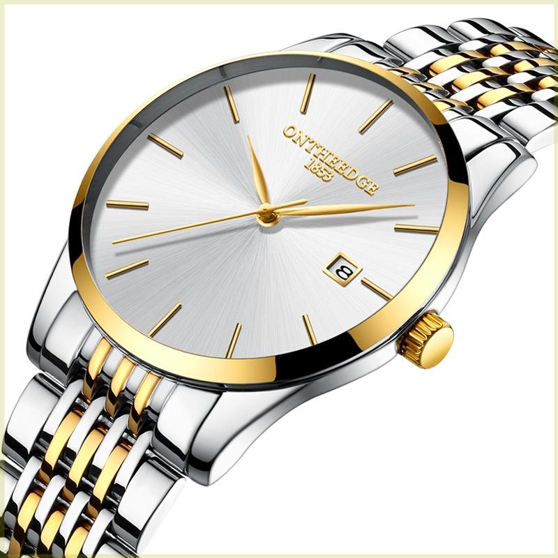 。新概念超薄瑞士手表男潮流学生防水夜光石英男士手表2021新款潮