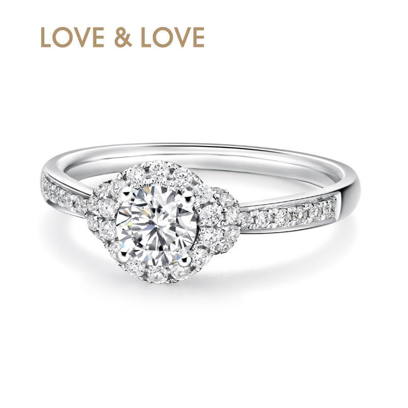 love love18k金带gia证书主石钻戒