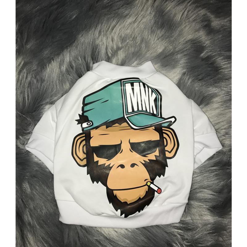 Домашнее животное одежда прилив бренд обезьяна шаблон ноги зимний осенний новинка пакистан брат топорище база хлопок уютный