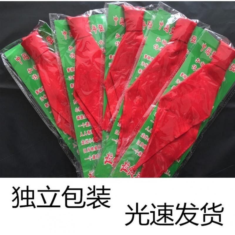 红领巾小学生夏季免打结1-3年级布红邻高档通用拉链。