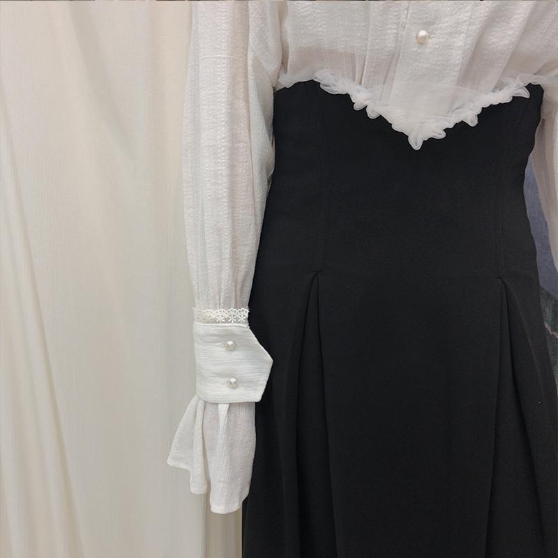 (用5元券)十早自制显瘦收腰金属鱼骨半身裙