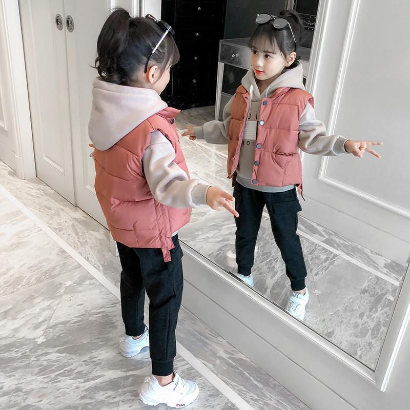 儿童卫衣套装女加绒