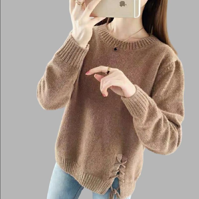 雪尼尔毛衣女2020秋冬新款上衣韩版宽松外穿仿水貂绒针织打底衫潮