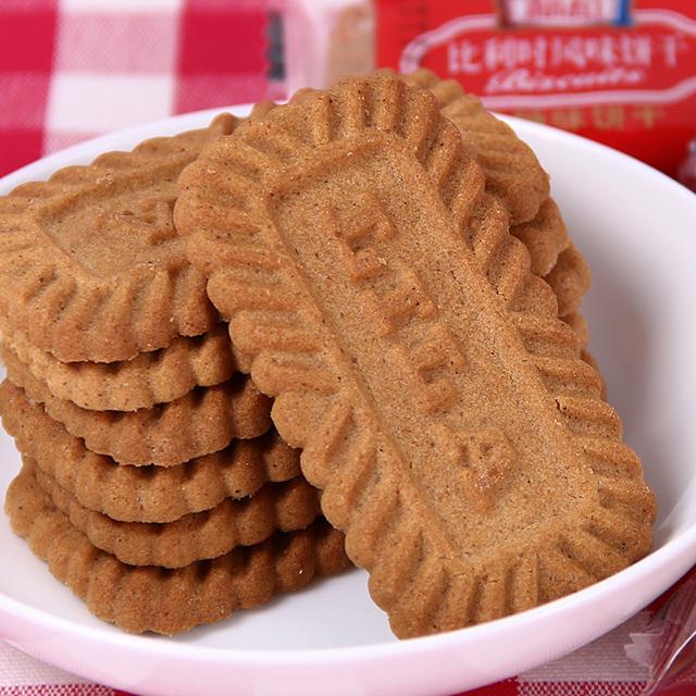 利拉比利时风味黑糖饼干焦糖饼干 1斤约84片 好吃零食饼干