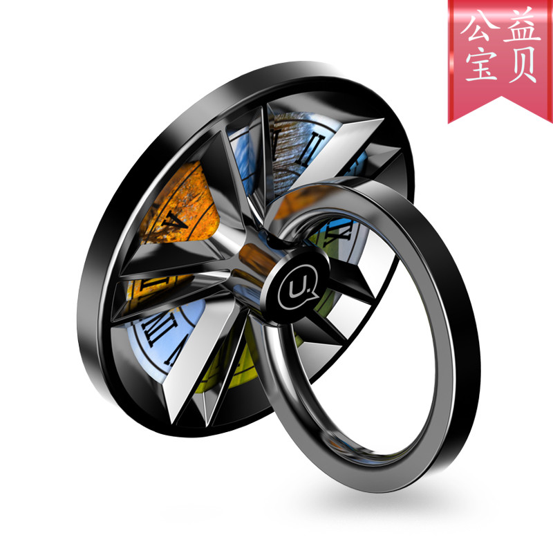 Ring snap ring refers to the bracket, mobile phone universal 360 degree rotating gyro, metal on-board magnetic attraction, Huawei Pingmi men and women