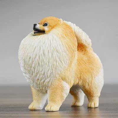 新品博美犬模型车摆件礼品装饰狗工艺品礼物狗摆件顺丰包邮
