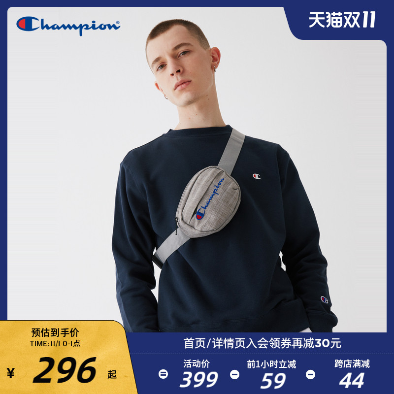 Champion champion 2020 autumn and winter new men's round neck small C pullover loose cotton couple sweater trend