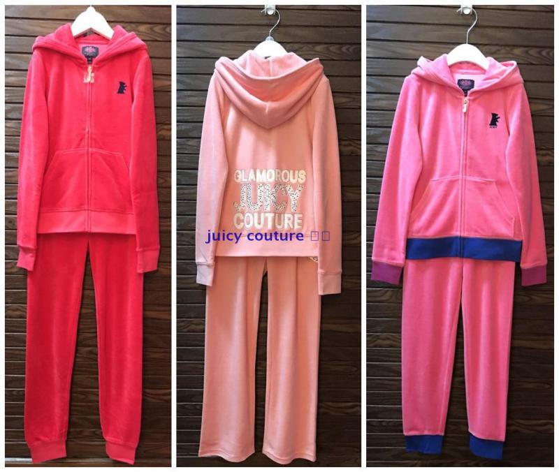 国内现货 美国专柜  juicy couture 童装女童新款长袖天鹅绒套装