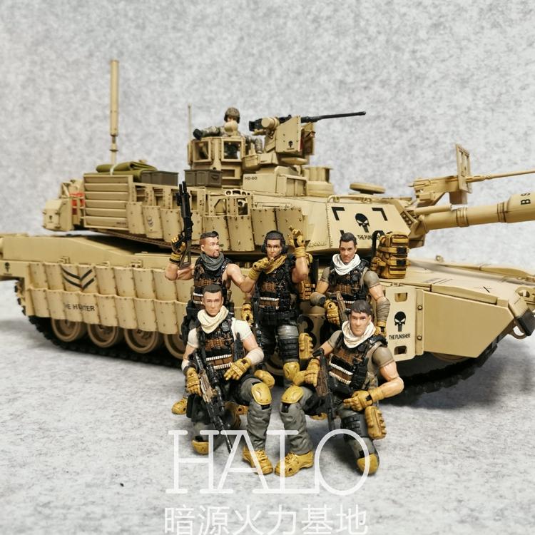 JOYTOY暗源 3.75寸PLA对外野战小队1:18可动军事兵人玩具模型手办