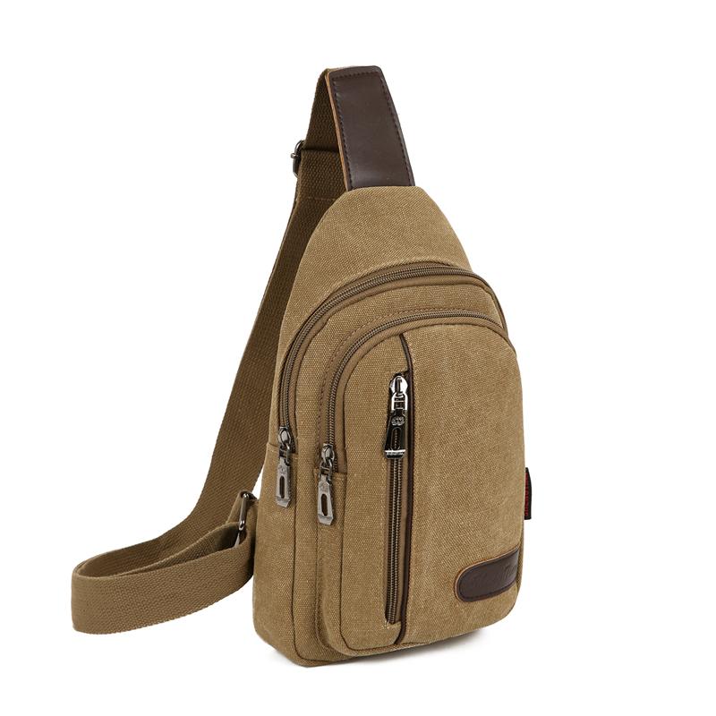 包包2020新款男士胸包帆布包斜挎包男包单肩包韩版小背包休闲腰包