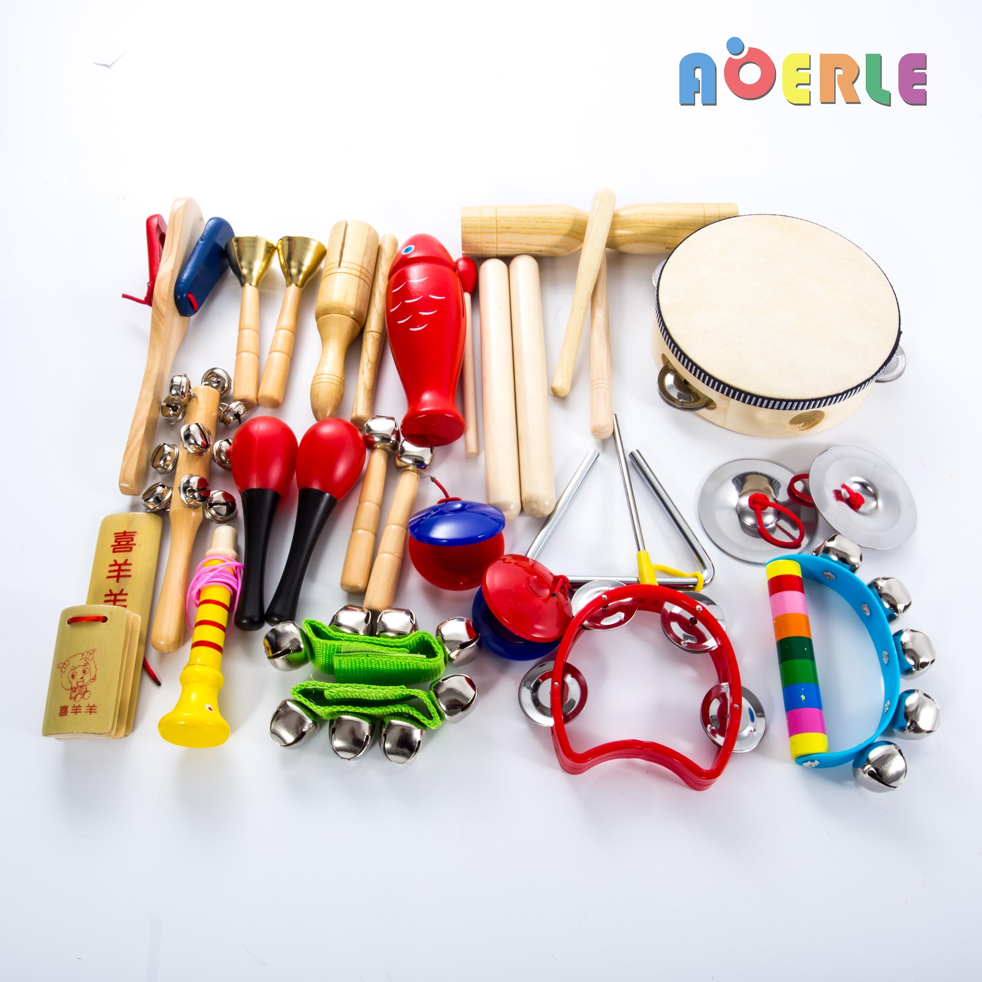 儿童乐器套装11件幼儿园打击乐器组合小学音乐课教具听觉训练玩具