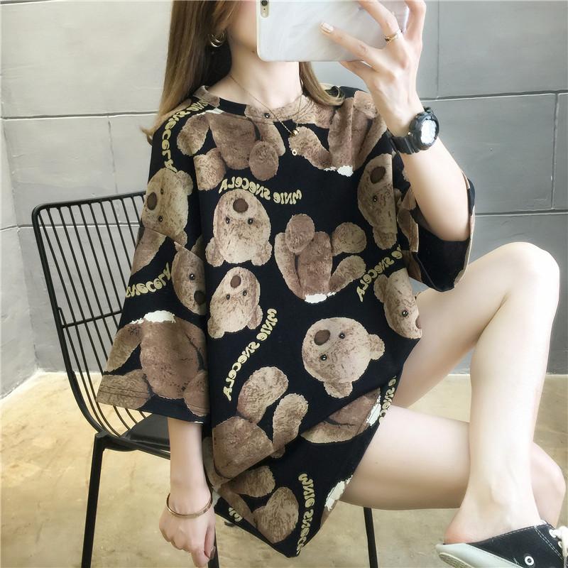 香港潮牌短袖t恤女夏装2020打底衫