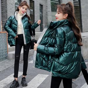 免洗面包服外套亮面羽绒棉服2020冬装新款加厚ins宽松短款棉衣女