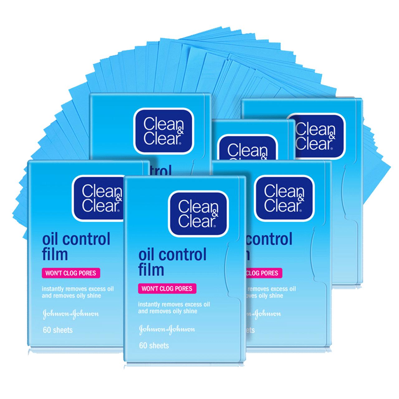可伶可俐吸油纸蓝膜60片*6包+粉膜50片*5包控油面部补妆吸油面纸