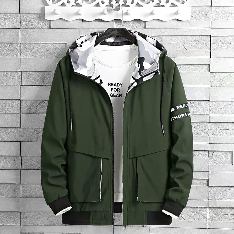 Mens fatness plus size spring and autumn baseball collar coat 300kg fatmans shirt big belly fat jacket 6 hooded mens wear