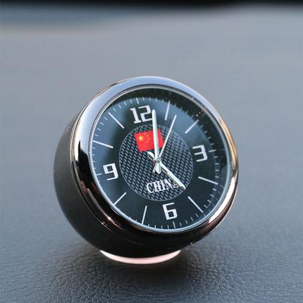 汽车车用电子表车内钟表电子车载时钟表创意石英表摆件小圆表