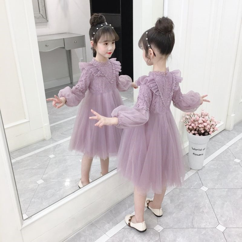 Girls 9-year-old dress foreign style autumn 8 primary school girls spring dress big children 7 Princess Dress 12