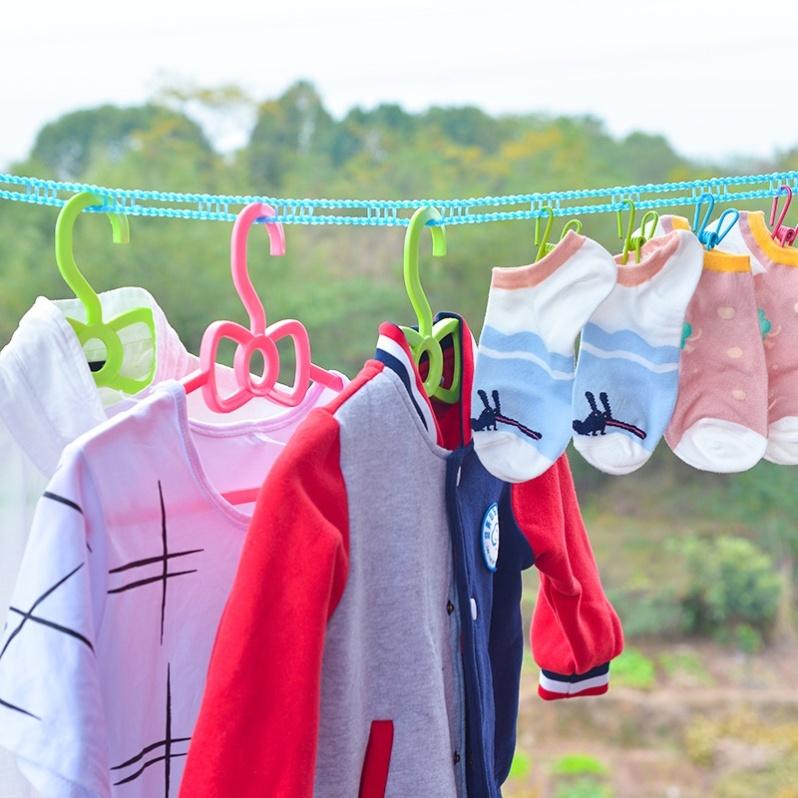 凉衣服绳子外面晒被子户外家用晾衣绳晒衣服挂绳旅行防风晾衣神器