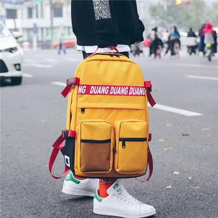 Порт ветер ulzzang дикий простой портфель женщина корейский харадзюку мужчина студент ins рюкзак улица прилив бренд рюкзак