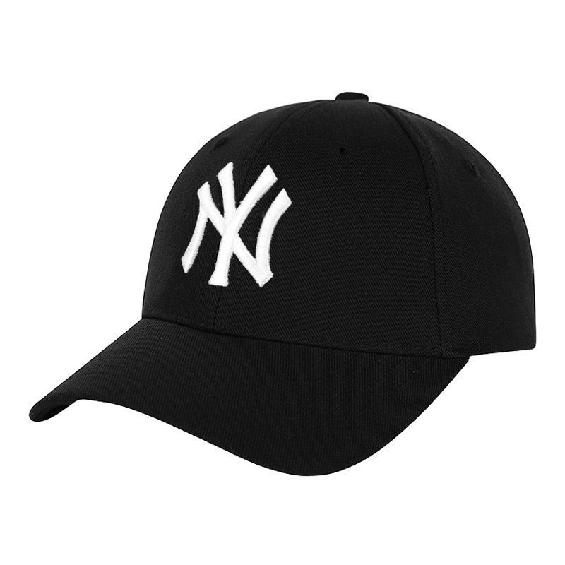 Korean MLB baseball cap men and women four seasons NY cap sapphire blue adjustable sunshade cap recreational duck tongue cap