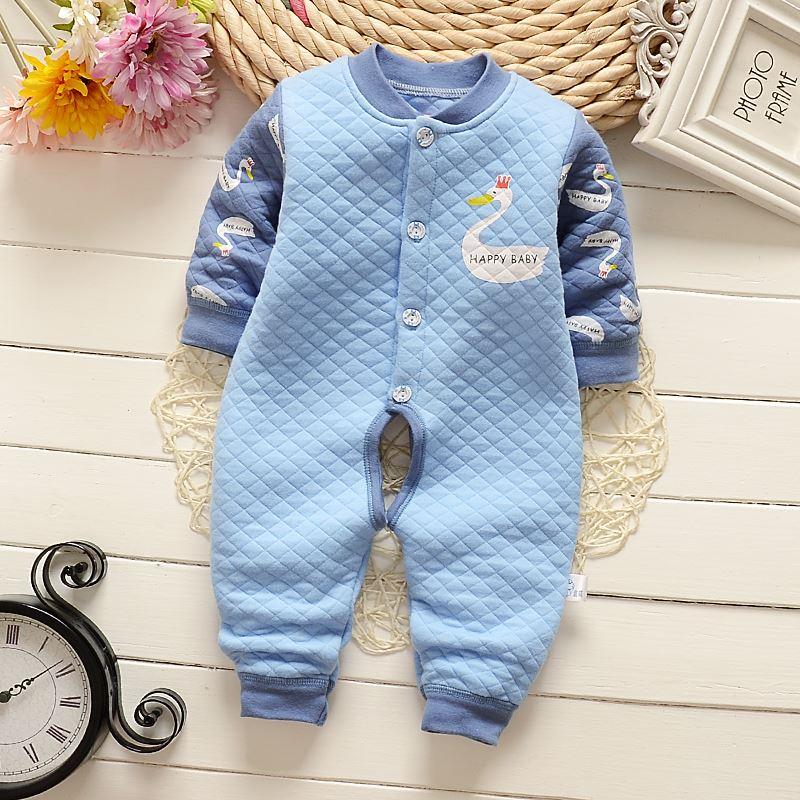 【2件45元】纯棉婴儿保暖连体衣宝宝连体衣新生儿薄棉保暖连体衣