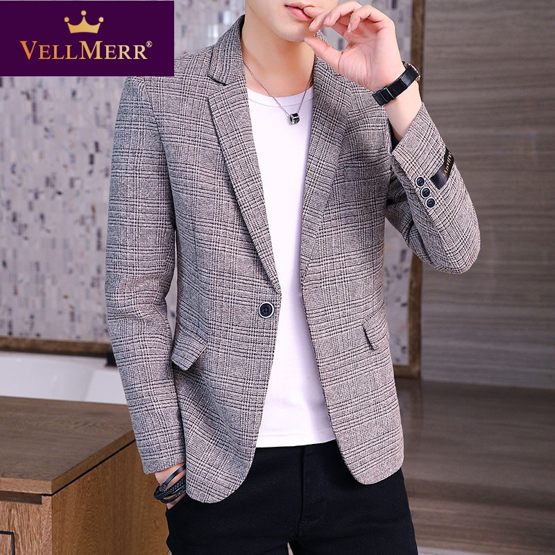 Mens suit 2020 trend slim and handsome fashion small suit coat mens single west hy0923