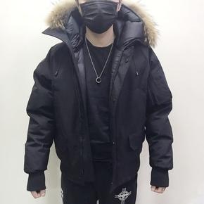 2019冬季潮牌超厚多口袋加厚貉子毛领连帽短款男装羽绒服保暖外套