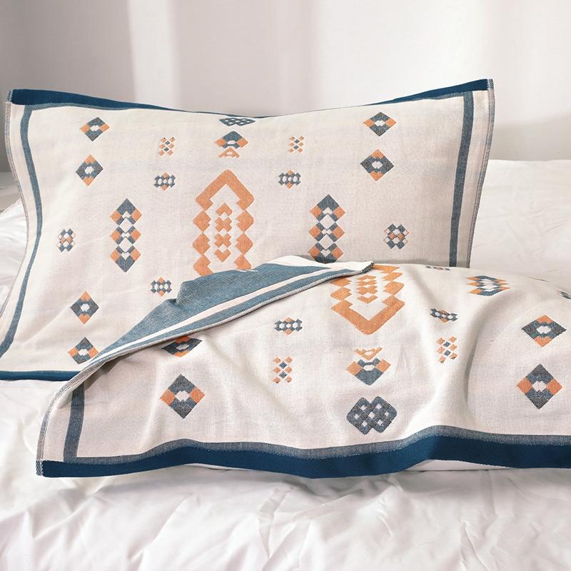 纯棉一对装高档欧式家用单人枕巾