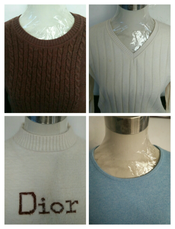 Professional modification of sweaters, cashmere sweaters, collars, collars, knitwear, neckline, neckline, size, thickness and hole filling