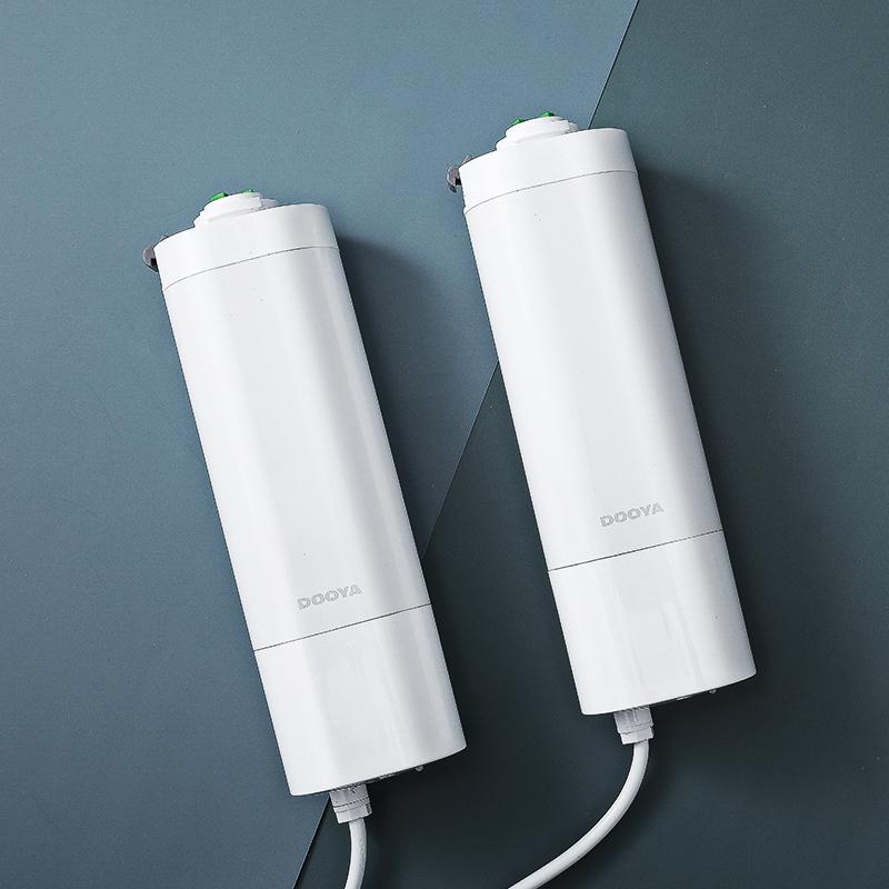 电动窗帘杜亚5年质保电机加厚尚飞轨道手持遥控墙壁面板方形开关