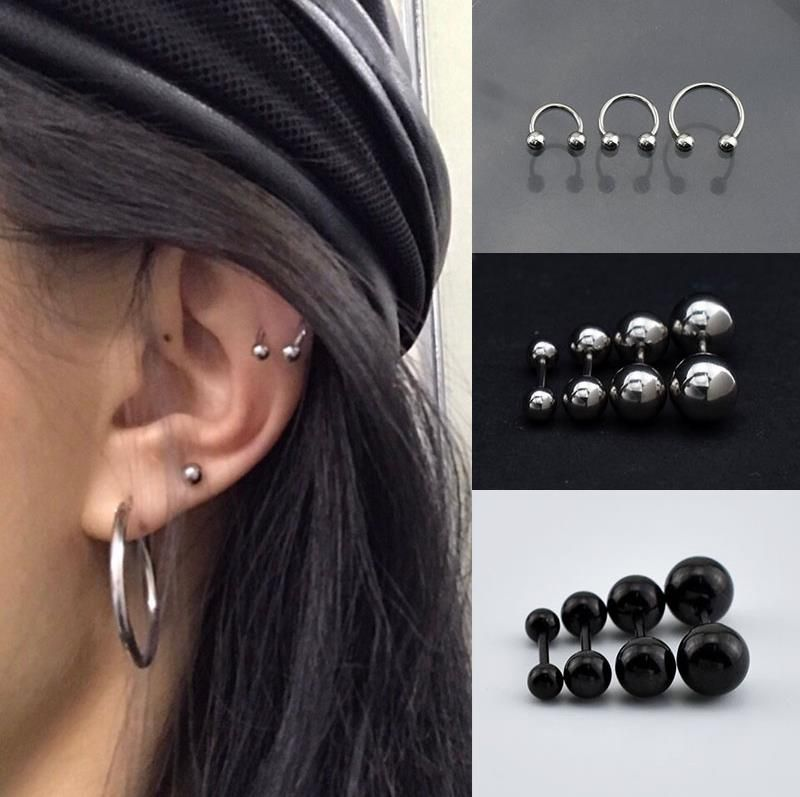 Ear nail female upper ear hole ear bone ear nail ear bone clip womens single unique creativity 2019 new ear nail