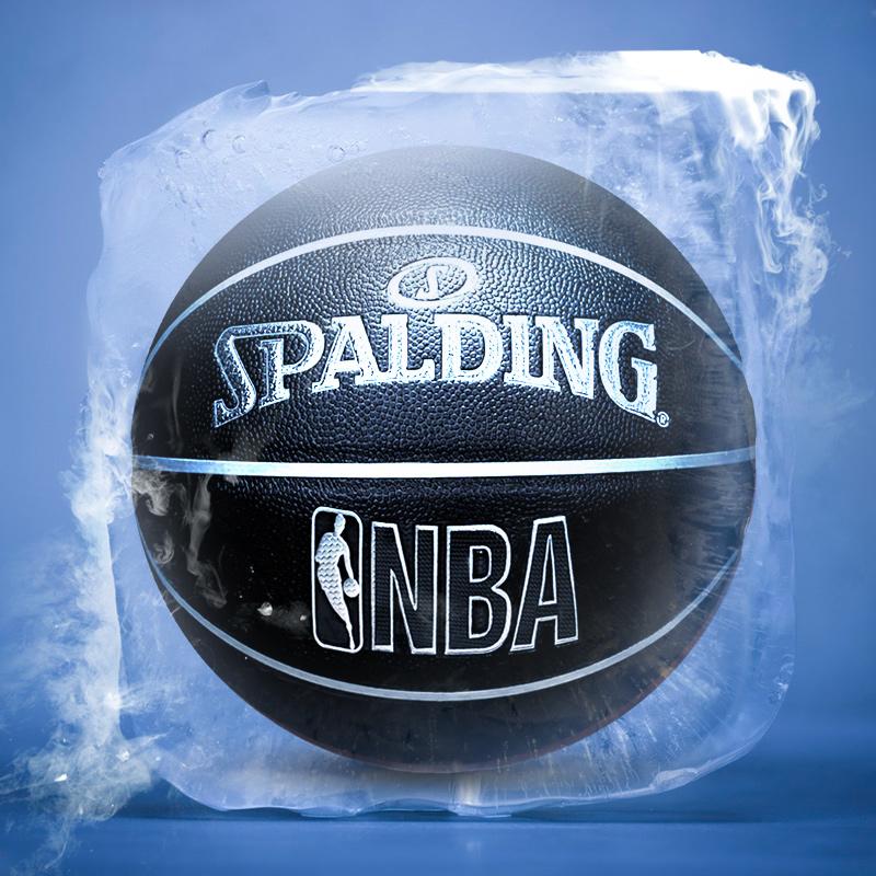 斯伯丁篮球NBA正品学生比赛室外室内耐磨水泥地7号送男生礼物儿童