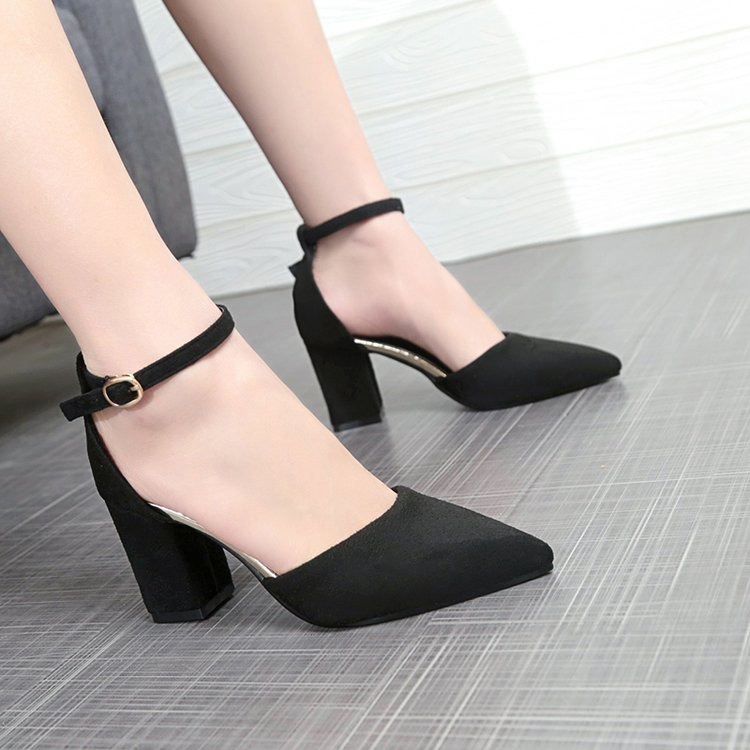 Elegant sexy high-heeled shoes 44 large size 45 womens shoes show thin Cosplay mens fake shoes thick heels