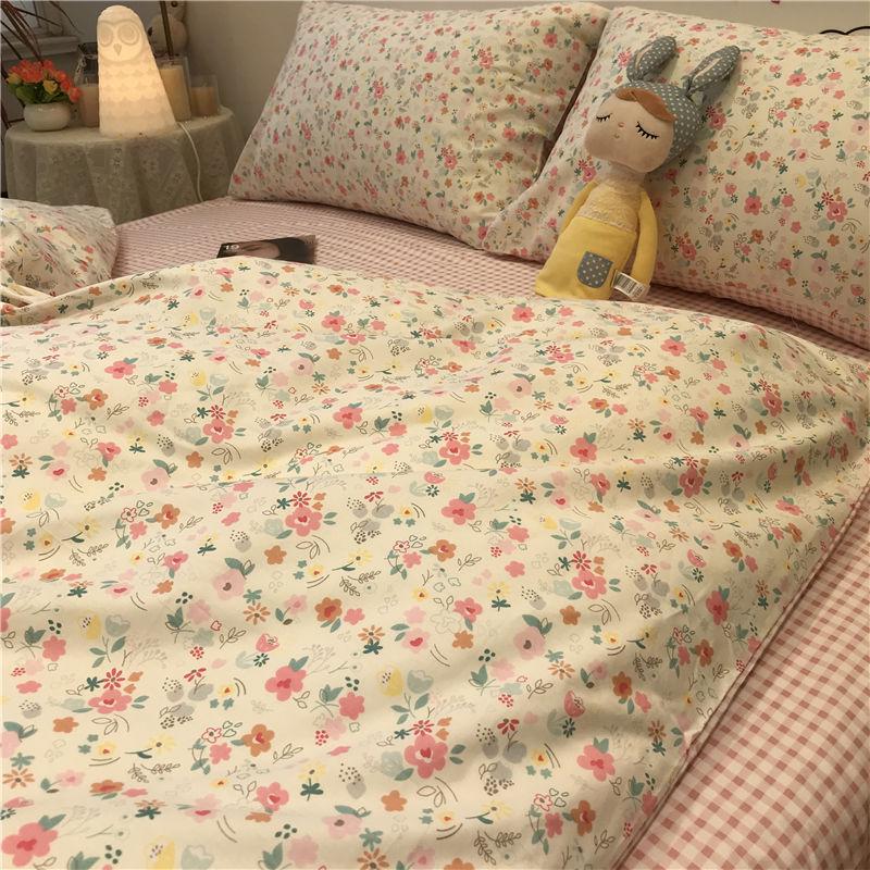 タオバオ仕入れ代行-ibuy99 床上用品 日系网红小碎花少女孩小清新床上用品四件套被套床单人学生三件套