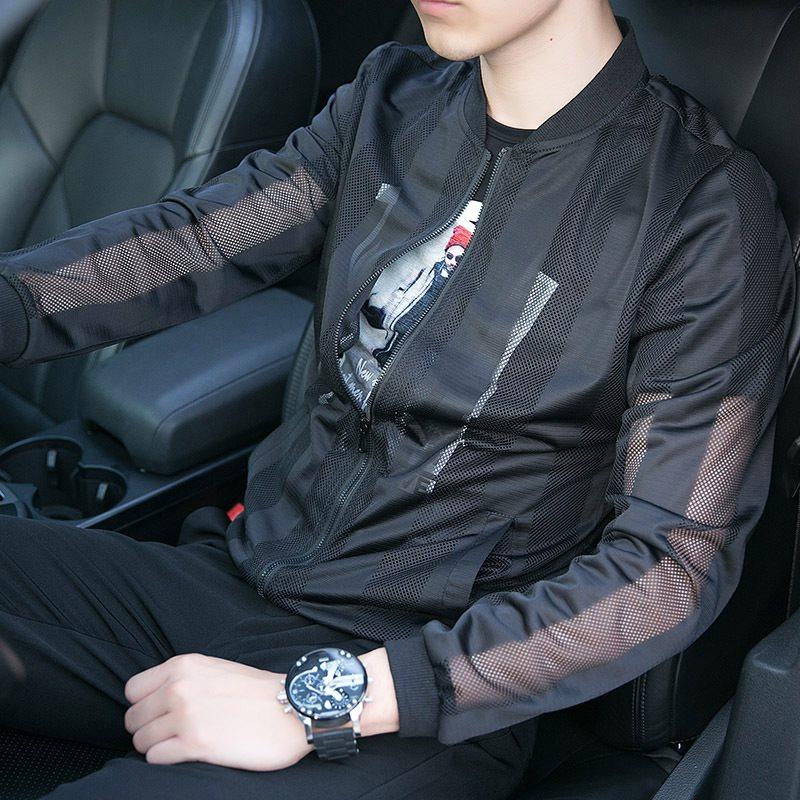 热销10件不包邮防晒衣男士韩版超薄款透气潮流夹克