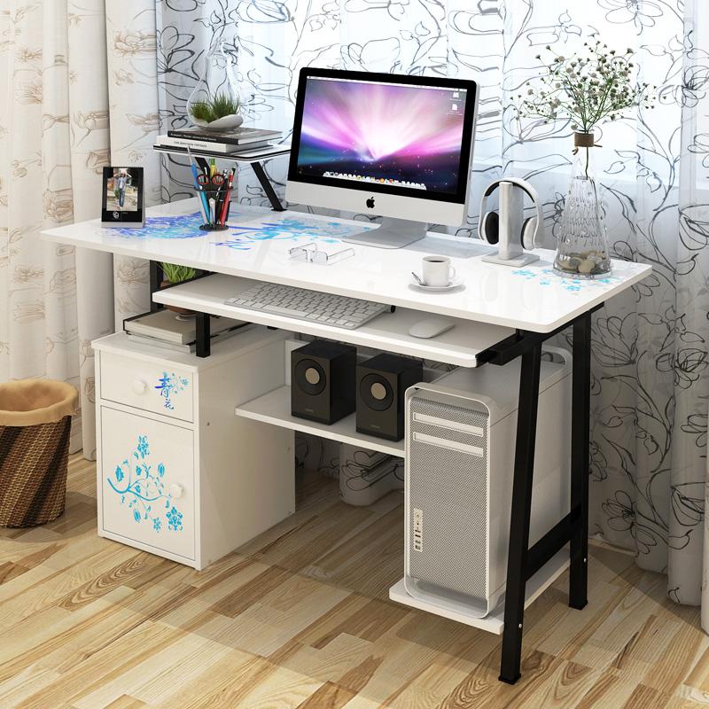 烤漆90~120厘米 电脑桌台式家用办公桌写字桌书桌简约台式桌子