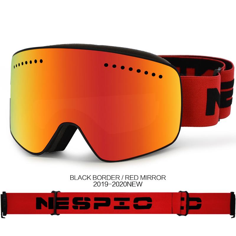 专业滑雪镜柱面女士大童青少年双层防雾雪地护目眼镜雪乡旅游装备