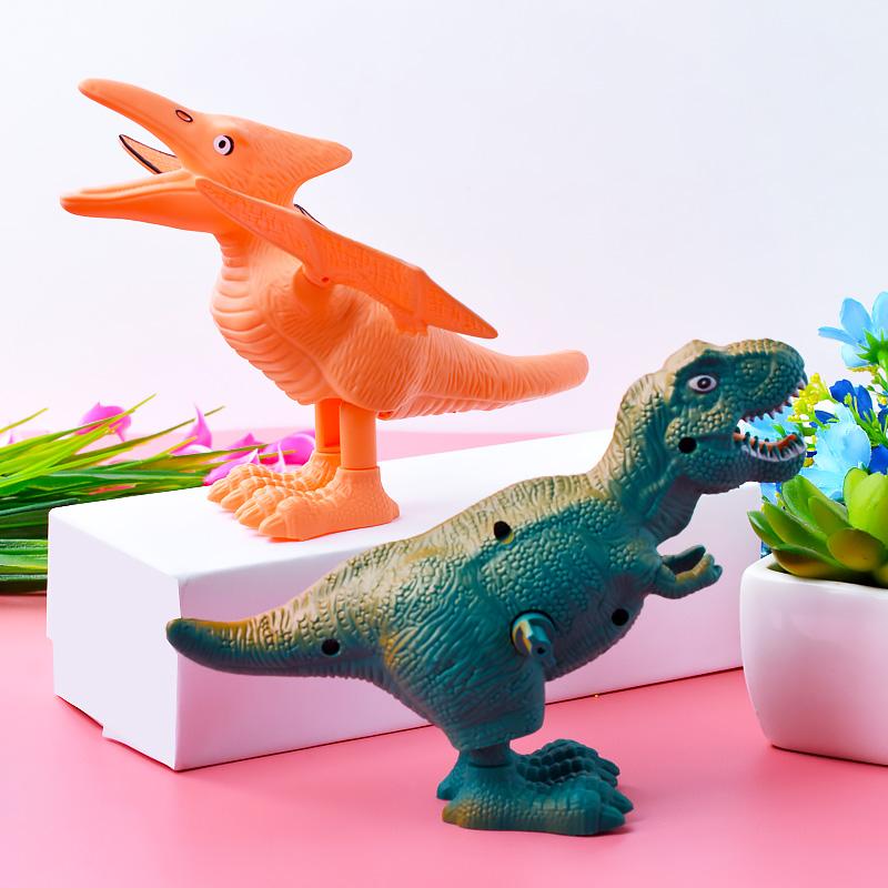 创意发条恐玩具上链条跳跳恐龙儿童礼物幼儿园奖品新奇可爱奖励品