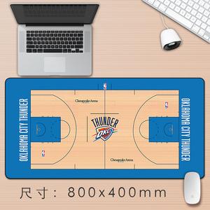 芒客 雷霆周边NBA地板超大鼠标垫威少斯布鲁克键盘垫电脑办公桌垫