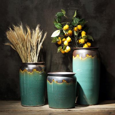美式欧式景德镇大花瓶客厅装饰餐桌摆件插干花水培富贵竹鲜花花器