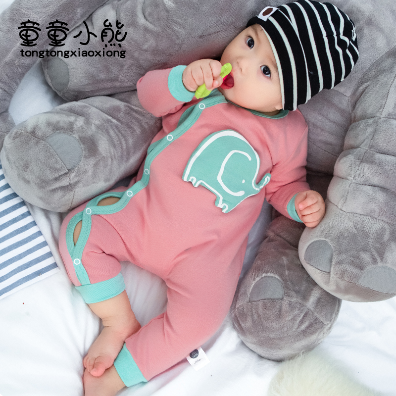 2019 new baby long sleeve Jumpsuit 0-3 years old male and female baby cotton kharton and newborn climbing Jumpsuit