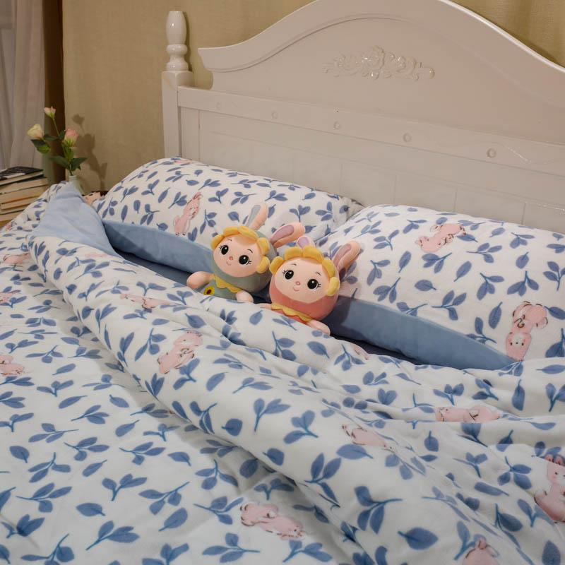 冬季纯棉床上用品全棉床上四件套床品被套宿舍套件三件套床单家纺