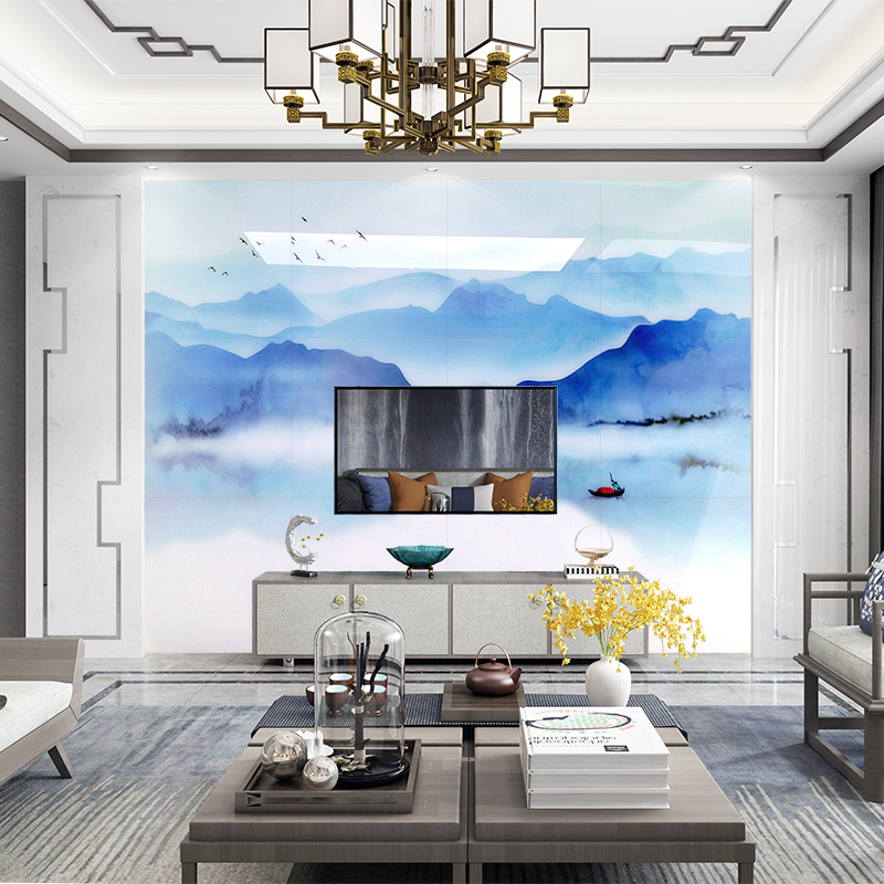热销0件正品保证定制电视背景墙新中式大理石纹瓷砖