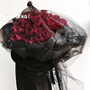 enlarge Sheer crystal Yarn Bouquet flower packing Material Science decorate Wedding celebration Marriage room Wedding car arrangement stairs