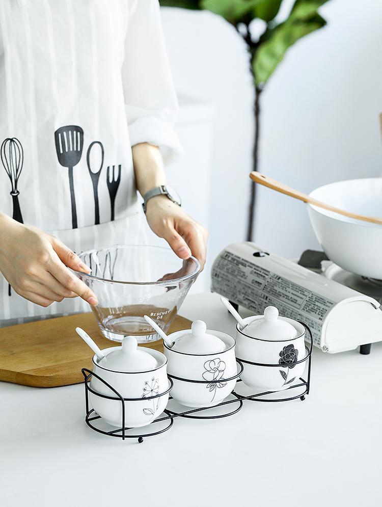 放白糖的罐调料家用调味罐创意陶瓷欧式调料盒瓶调味罐家用盐罐11月07日最新优惠