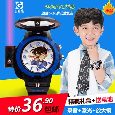 Luminous Conan electronic recording laser light quartz 2021 new watch boy girl student trend junior high school
