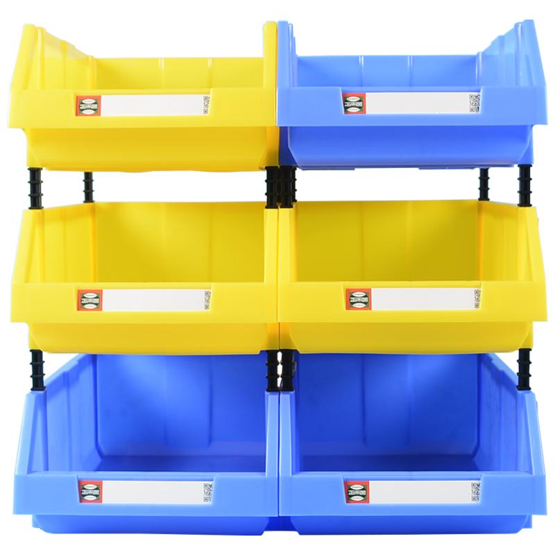 斜口零件箱螺丝盒分类料货架盒子五金工具箱整理盒收纳盒零件盒塑,可领取元淘宝优惠券
