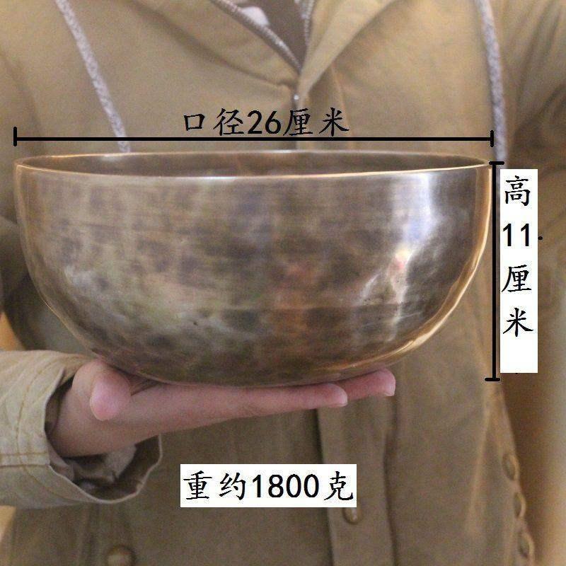 底垫钵盂铜碗家居磬佛语庆用品铜钵瑜珈回音圆圈碗紫颂钵摆件满月