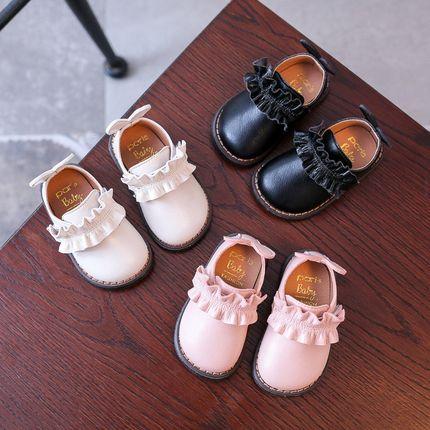 2018春秋季女宝宝公主鞋1-3岁婴幼儿软底透气单鞋学步婴儿童鞋子