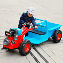 Children's walking tractor electric seatable double 1-3 years old 3-6 years old boys and girls baby toy car Dongfanghong
